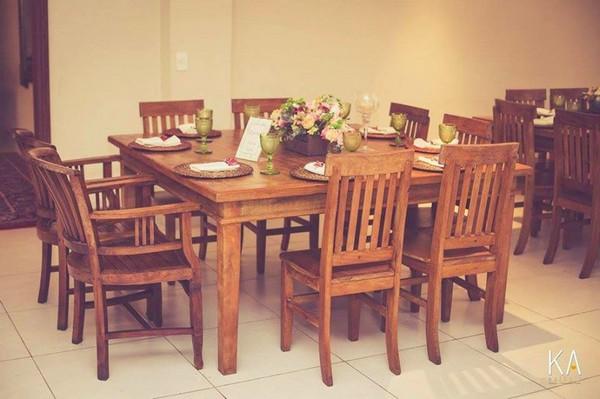 Mesas organizadas para o casamento