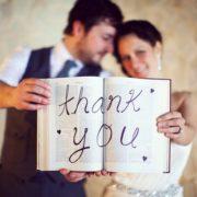 Depois do casamento, é hora de enviar os agradecimentos